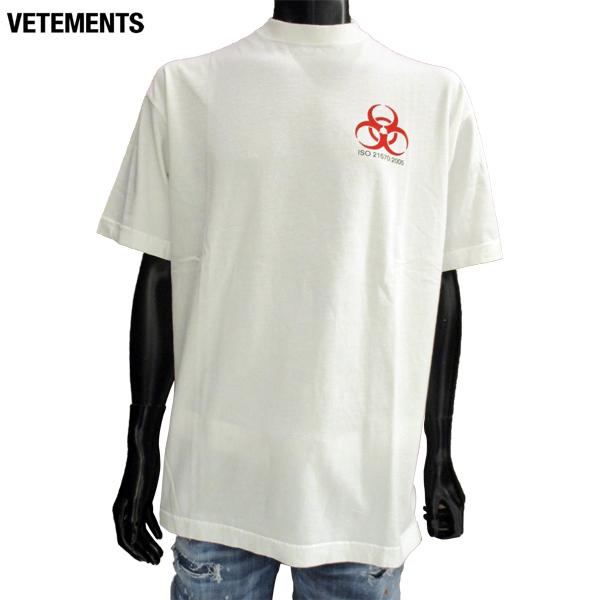 ヴェトモン VETEMENTS メンズ Tシャツ 半袖 丸首 MSS18TR36 WHITE 81S【送料無料】【smtb-TK】