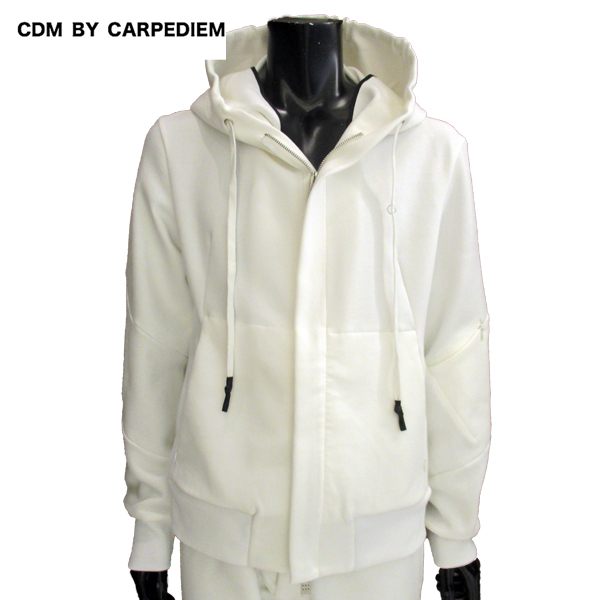 【送料無料】 シーディーエム バイ カルペディエム(CDM BY CARPEDIEM) メンズ スウェットパーカ セットアップ パンツ別売り CSO-806 SN10 White 【smtb-tk】 81S