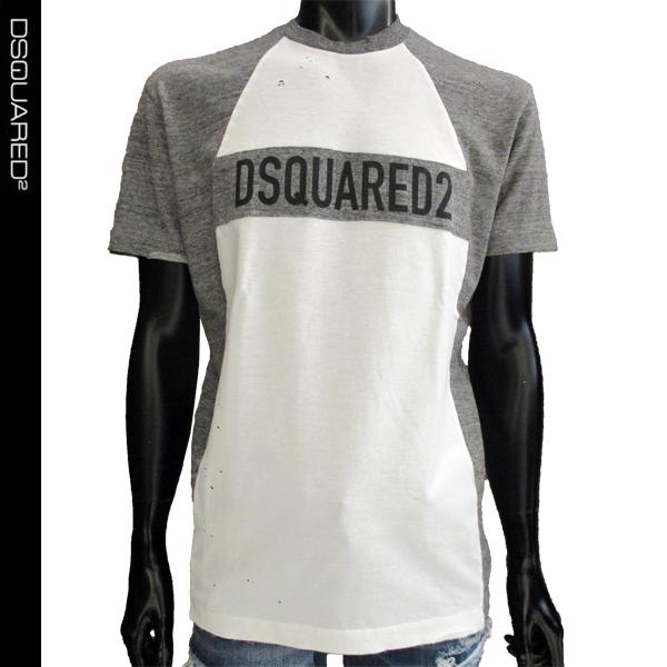 ディースクエアード DSQUARED2 メンズ Tシャツ ロゴ S71GD0657 S23009 100 81S (R36465)【送料無料】【smtb-TK】