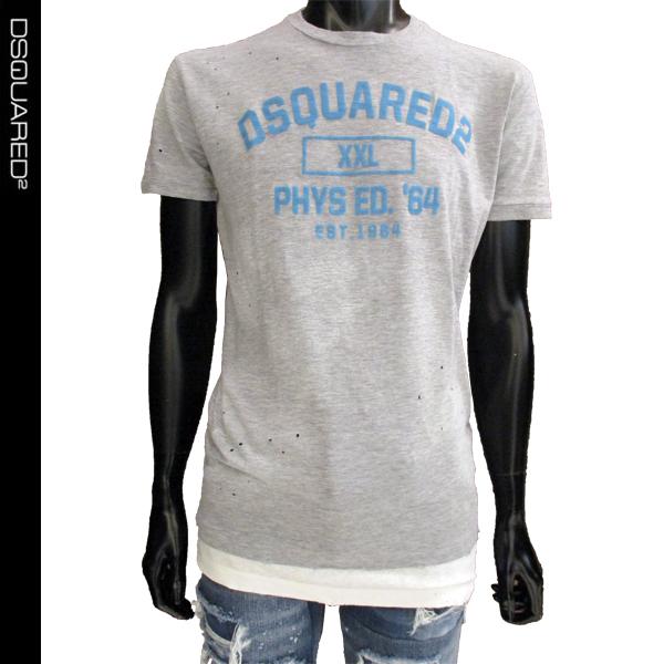 【送料無料】 ディースクエアード (DSQUARED2) メンズ Tシャツ ロゴ S71GD0644 S22146 857M 【smtb-tk】 81S