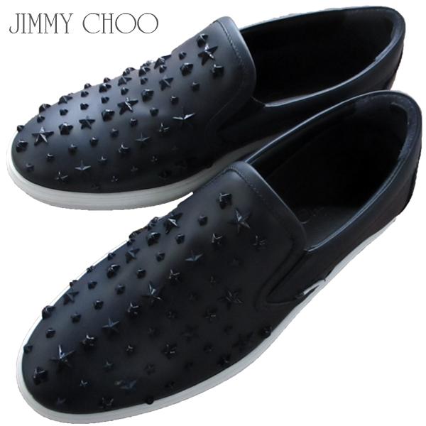 ジミーチュウ Jimmy Choo メンズ 靴 スニーカー ローカットスニーカー ミックススタースタッズ・カーフレザースリッポン ネイビー GROVE OMX NAVY (R108000) 81S【送料無料】【smtb-TK】