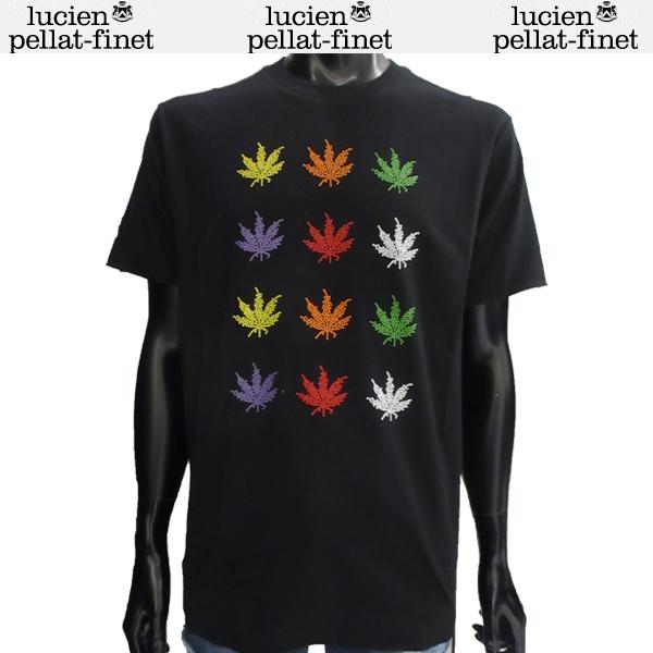 ルシアン ペラフィネ lucien pellat-finet ヘンプ カラー Tシャツ プリント EVU1996 BLACK 81S【送料無料】【smtb-TK】