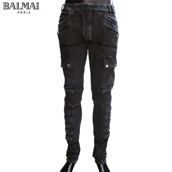 【送料無料】 バルマン(BALMAIN) メンズ デニム カーゴ パンツ S8H 5160 T138 176 NOIR/BLACK 【smtb-tk】 81S
