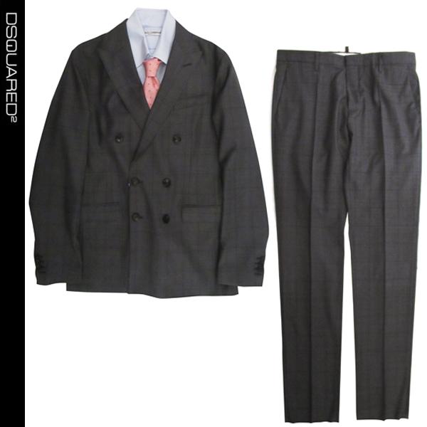 ディースクエアード DSQUARED2 メンズ スーツ ジャケット パンツ 上下 セット S74FT0316 S48492 001F 81S【送料無料】【smtb-TK】