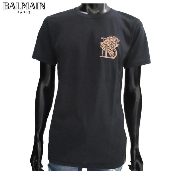 【送料無料】 バルマン(BALMAIN) メンズ Tシャツ 刺繍 半袖 S7H8601 1003B 176 【smtb-tk】 81S