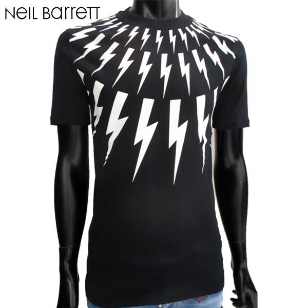 2018年秋冬新作 ニールバレット Neil Barrett メンズ 半袖 クルーネック Tシャツ 黒 PBJT442F H556S 524 81A (R39960)【送料無料】【smtb-TK】