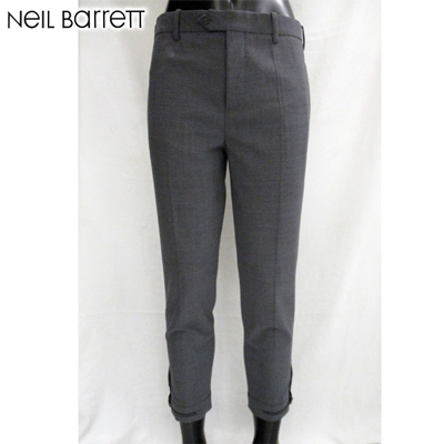 ニールバレット Neil Barrett メンズ クロップドパンツ 裾幅調整可能アジャスターつき PBPA266H A014 548 61S (R60318)【送料無料】【smtb-TK】