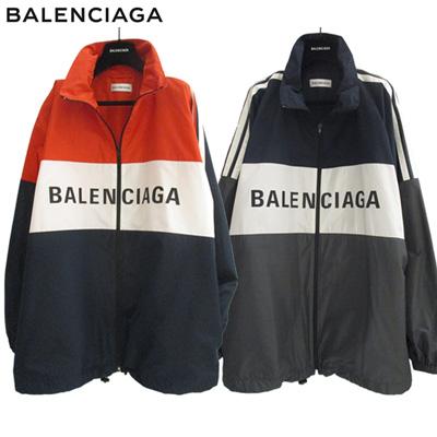 2018年秋冬 バレンシアガ BALENCIAGA メンズ ブランドロゴ入りジャケット バレンシアガ ジャケット アウター オレンジ ネイビー グレー 2color 528638 TYD36 8093 / 7781 2color 81A【送料無料】【smtb-TK】