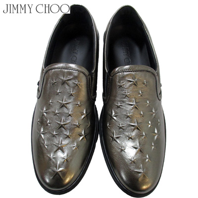 2018年秋冬新作 ジミーチュウ Jimmy Choo メンズ スニーカー 靴 メタリック ガンメタル ナッパレザー グローブ GROVE EBN GUNMETAL 81A (R93960)【送料無料】【smtb-TK】
