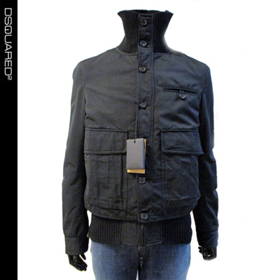 秋冬 ディースクエアード DSQUARED2 メンズ ジャケット ブランド 黒 ブラック 71AM228 36617 090 9A (R198000)【送料無料】【smtb-TK】