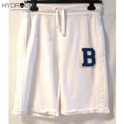ハイドロゲン HYDROGEN メンズ ハーフパンツ 半パン 半ズボン 青ワッペン Bワッペン スウェット パンツ ショート 白 128002 WH/BLUE DB13S