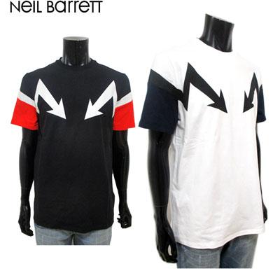 2019年春夏新作 ニールバレット Neil Barrett メンズ Tシャツ トップス 半袖 アロー 2color ホワイト ブラック 白 黒 PBJT457A L522S 1133 / 1410 91S【送料無料】【smtb-TK】