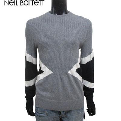 2019年春夏新作 ニールバレット Neil Barrett メンズ セーター ニット トップス 長袖 3色 カシミヤ グレー 黒 ブラック ホワイト 白 PBMA894 L610C 1654 91S【送料無料】【smtb-TK】