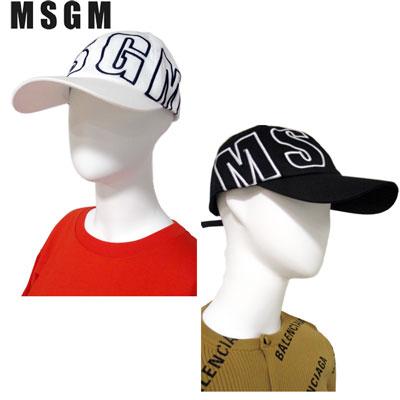 エムエスジーエム MSGM メンズ 帽子 キャップ ロゴ ユニセックス可 2color MSGMビッグロゴ付キャップ 白/黒 2640ML09 195084 99 / 01 91S (R18600)【送料無料】【smtb-TK】