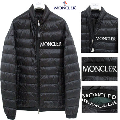48460f0d9 Monk rail MONCLER men front desk logo down jacket NEVEU logo down jacket  black white black and white 4036194 C0019 999 NEVEU GB91S in the summer ...