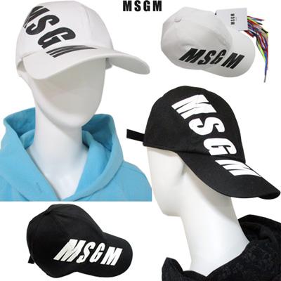 エムエスジーエム MSGM メンズ 帽子 キャップ ロゴ 2color ユニセックス可 サイドMSGMロゴ入キャップ 白/黒 2640ML06 195084 01/99 91S (R18600)【送料無料】 【smtb-TK】