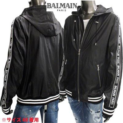 2020年春夏新作 バルマン(BALMAIN) メンズ ジャケット アウター ブルゾン アームロゴライン入りジャケット ブラック 黒 TH08705 X070 EAB (R223200) 02S【送料無料】 【smtb-TK】
