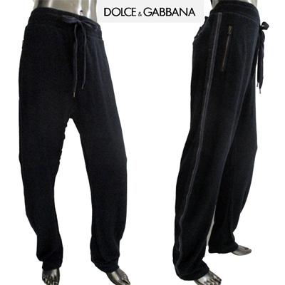 ドルチェ&ガッバーナ スウェットパンツ メンズ DOLCE&GABBANA ジップ付きポケット サイドライン入りロングパンツ ブラック 黒 TRP251 SCQ04 B0665 (R35800) 【送料無料】【smtb-tk】 12S