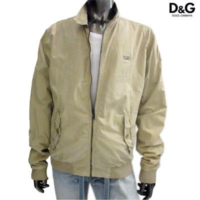 ドルチェ&ガッバーナ(DOLCE&GABBANA) メンズ ジャケット アウター ロゴプレート付ジップジャケット ベージュ G9080T G8J27 M0263 (R69000) 12S【送料無料】 【smtb-TK】