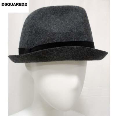 人気ショップが最安値挑戦 送料無料 ディースクエアード DSQUARED2 ロゴプレート入りウールハット smtb-tk 帽子 グレー 希望者のみラッピング無料