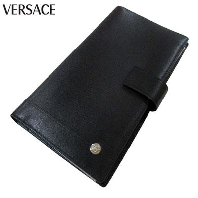 ヴェルサーチ Versace メンズ チケットホルダー 名刺入れ ブランドロゴ メデューサ カード入れ ブラック 訳アリ品 内部劣化 PN0029 VGR3 41N 4A (R26800)