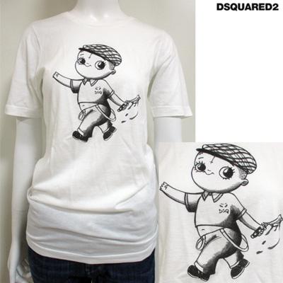ディースクエアード DSQUARED2 レディース クルーネック 半袖 Tシャツ S72GC0980 S21600 100 71S (R28080)【送料無料】【smtb-TK】