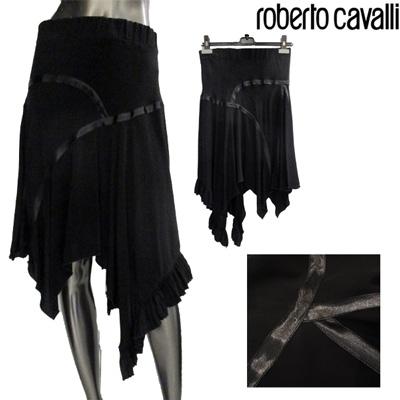 クラスロベルトカバリ(Class Roberto Cavalli) 【サイズ40】スカート レディース ボトムス シルク100% ブラック 黒 10S CD201 801 (R65100)【smtb-tk】【送料無料】 GT10A