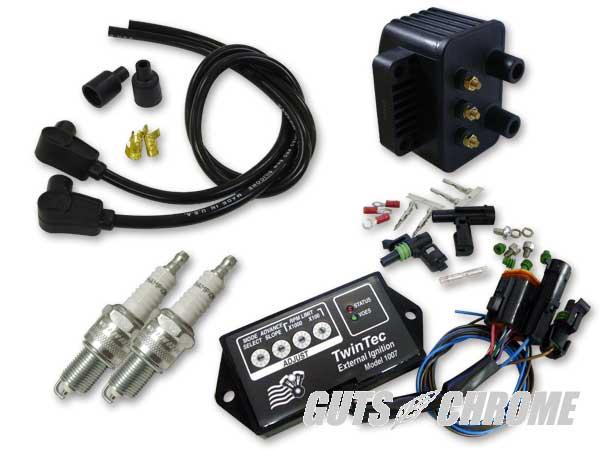 セット_9800-3131 ツインテック8ピン 独立点火コンバージョンセット 95-98BT黒90°