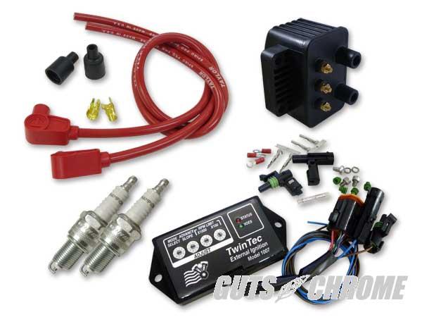 セット_9800-3135 ツインテック8ピン 独立点火コンバージョンセット 95-98BT赤90°
