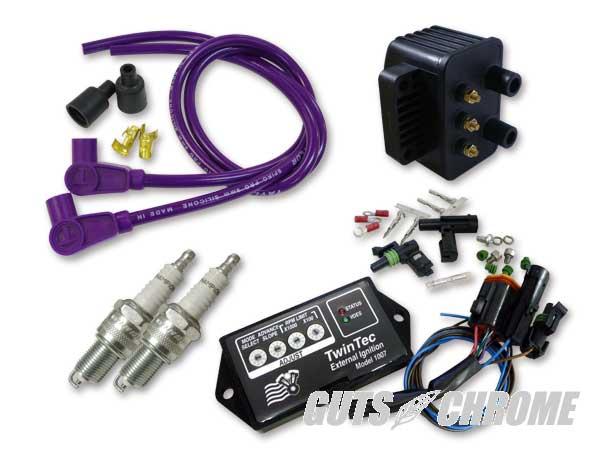 セット_9800-3138 ツインテック8ピン 独立点火コンバージョンセット 95-98BT紫90°