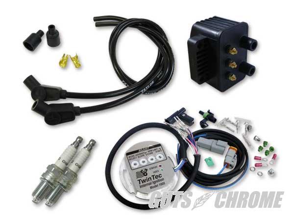 セット_9800-3160 ツインテック1005S 独立点火コンバージョンセット 98-03XL黒135°
