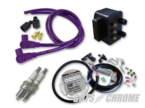 セット_9800-3166 ツインテック1005S 独立点火コンバージョンセット 98-03XL紫90°