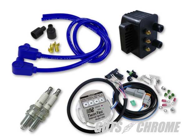 セット_9800-3169 ツインテック1005S 独立点火コンバージョンセット 98-03XL青90°