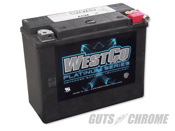 GF24_9800-4050 WESTCO ハーレー バッテリー 80~96年ツアラー用 OEM 66010-82B