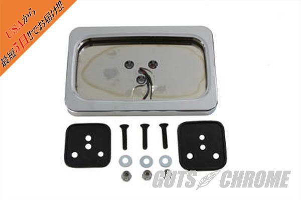 【取寄】42-1525 ライセンス プレート フレーム クローム 汎用品 for stock rear fender holes