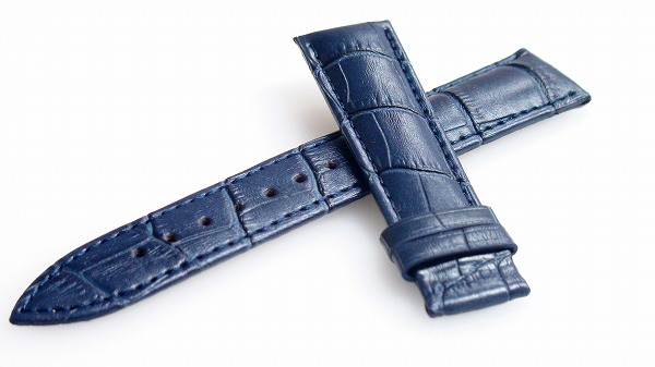 腕時計 ベルト 18mm レザー ネイビー Dバックル用交換ベルト  交換工具付 メール便可