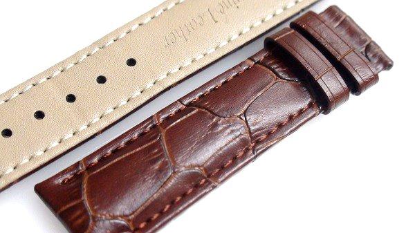 腕時計 ベルト 20mm レザー ダークブラウン Dバックル用交換ベルト  交換工具付 メール便可