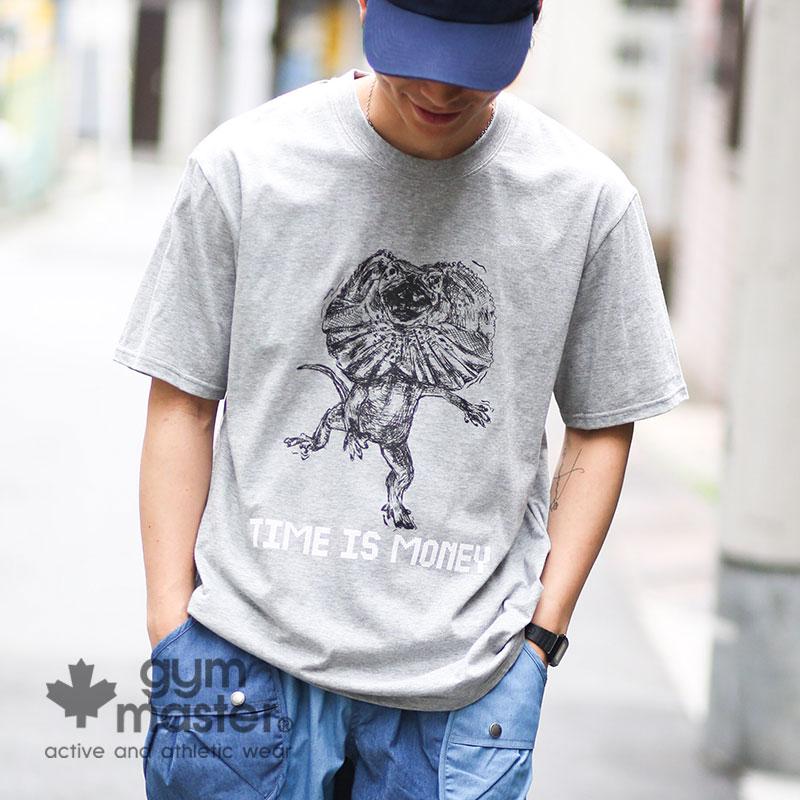 メール便対応 gym master ジムマスター 公式TIME IS 限定タイムセール MONEY TEEtシャツ 日本製 国産 メンズ レディース 綿100% 大きいサイズ 白 エリマキトカゲ ブランド カジュアル おしゃれ T恤 セール G299606 ドライ 短袖