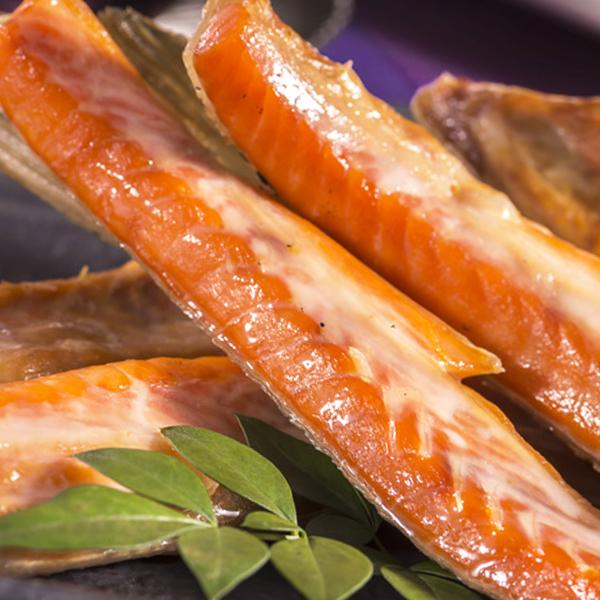 鮭の中で香り高い天然紅鮭のハラスです 香ばしくて美味しい 結婚祝い 紅鮭のハラス 1kg しゃけ 冷凍便 高級品 シャケ
