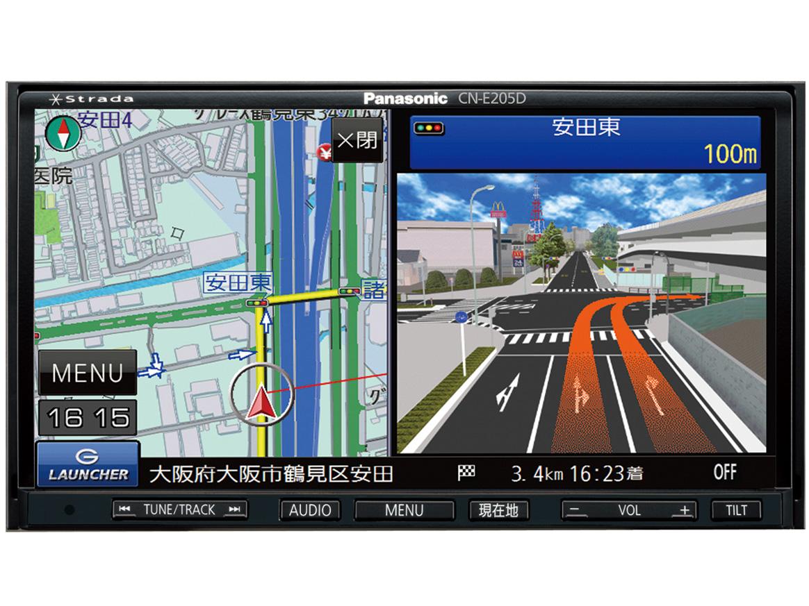パナソニック CN-E310D BLUETOOTH 8GB SSD ワンセグ CD ワイドFM対応 ステアリングリモコン対応 VICS WIDE
