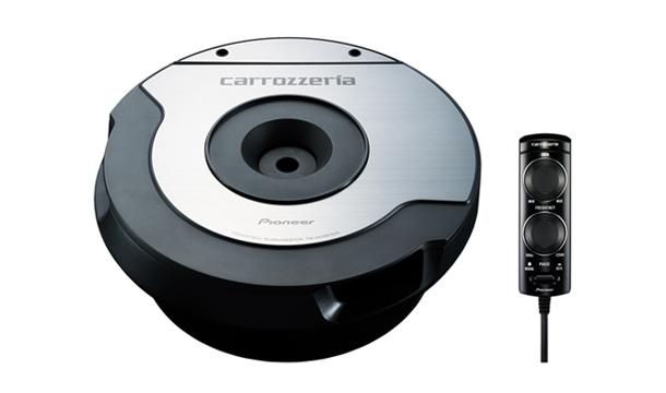 カロッツェリア TS-WX610A 10cm×2パワードサブウーファー200Wアンプ スペアタイヤホイール内設置可能