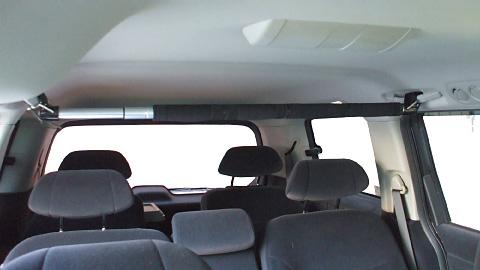 【ドライブを快適に! 車中泊グッズ】 クレトム KA-54 車内インテリアバー プラス 車内のスペースを有効活用!釣竿サーフボードなど車内積みに最適【FJ】