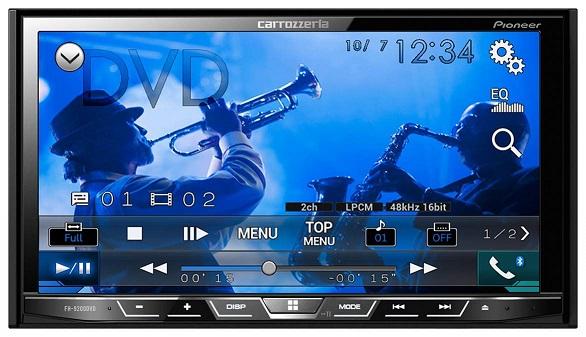 カロッツェリア パイオニア AVメインユニット FH-9200DVD 2DIN CD/DVD/USB/Bluetooth カーオーディオ FH9200DVD FH9200-DVD 7V型タッチパネル液晶