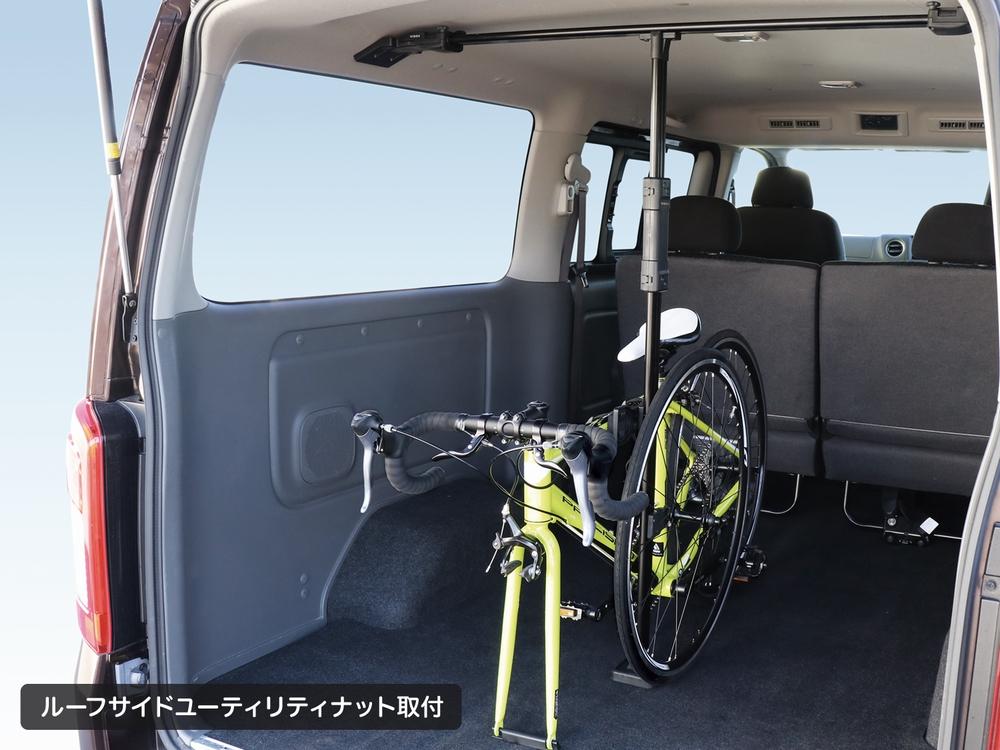 YAC U-CA1B E26系 NV350 プレミアムGX標準専用 サイクルスタンド スポーツバイクを車に積載 フレームとホイールを簡単安定ホールド UCA1B