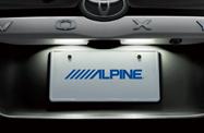 アルパイン LED-C90D-NV-W LED付 アルパインナビ専用リアカメラ(ノア/ヴォク用取付キット付 白)