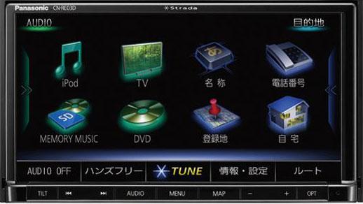 在庫有 即納 送料無料 パナソニック Panasonic CN-RE03D ストラーダREシリーズ 7V型ワイド SDメモリナビ フルセグ地上デジタルTV/CD DCD再生/CD録音USB Bluetooth iPhone iPod対応 180ミリモデル