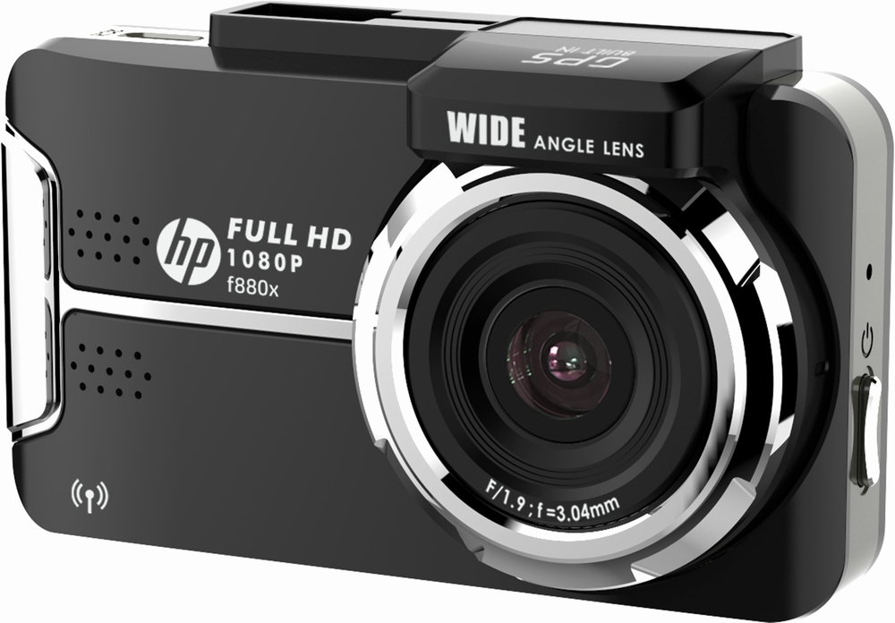 f-880x hp 対角136度 Gセンサー f880x GPS フルHD DC12~24V ヒューレット・パッカード 200万画素 地デジ/LED信号対策済 リアカメラ別売