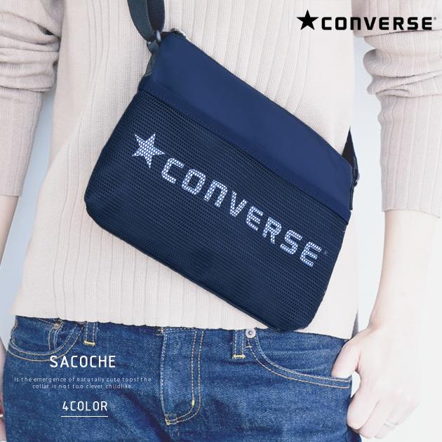 サコッシュ ショルダーバッグ コンバース CONVERSE レディース メンズ グレー ネイビー 在庫限り ブラック ユニセックス 鞄 ミニ 大規模セール アウトレット 残りわずかアイテム かばん ポケット
