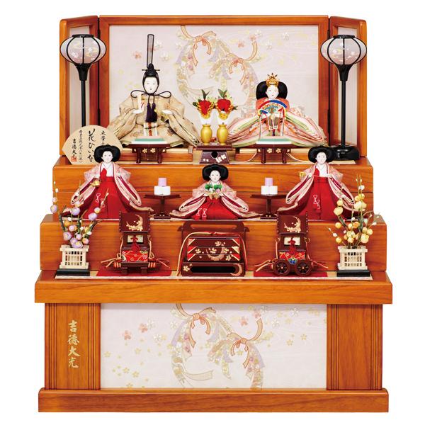 雛人形 ひな人形 吉徳 【2019年新作】芥子親王 柳官女 五人飾り 花ひいな お雛様