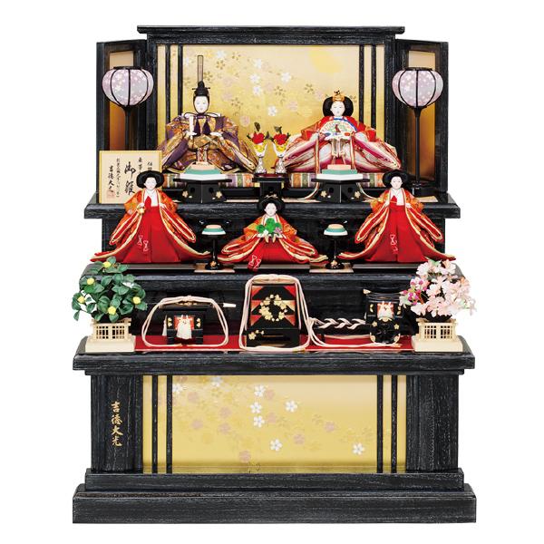 ※要在庫確認 雛人形 ひな人形 吉徳 【2019年新作】三五親王 芥子官女 五人飾り 御雛 お雛様